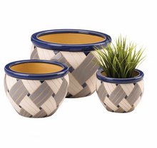 Load image into Gallery viewer, Geo Print Planter Trio