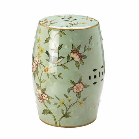 Floral Garden Decorative Stool
