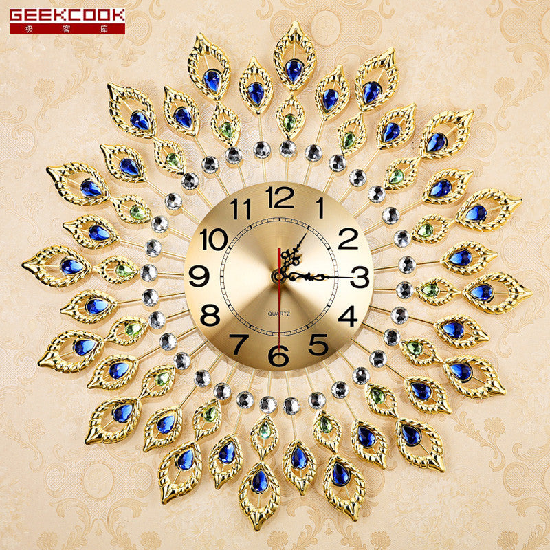 Creative Peacock  Wall Clock