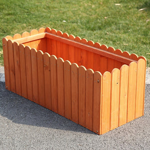 Wooden Flower Bed Planter