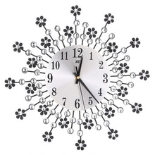 Load image into Gallery viewer, Large  Beautiful Flower Wall Clock