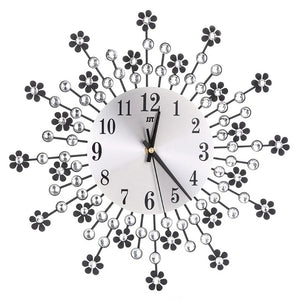Large  Beautiful Flower Wall Clock