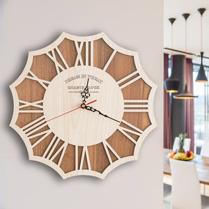 "14"" Cogwheel Walnut Wall Clock"