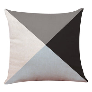 Geometric Cushion Sofa Throw
