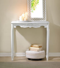 Load image into Gallery viewer, White Scallop Detail Hall Table