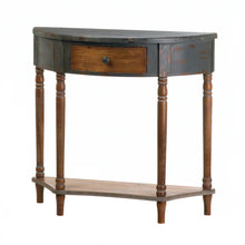 Load image into Gallery viewer, Wood Half Moon Hall Table