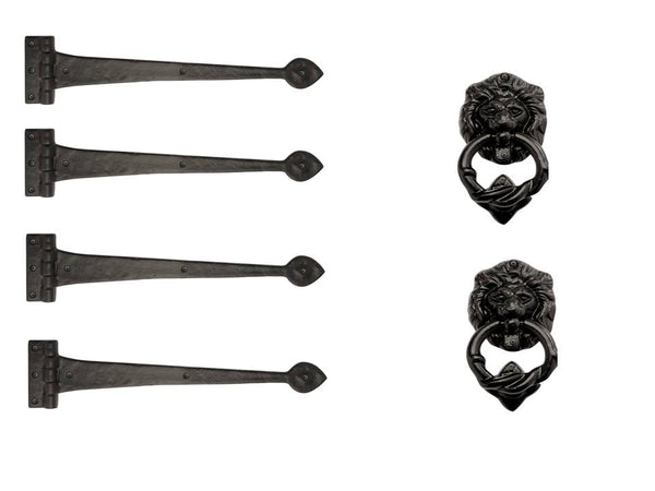 "Iron Series 18"" Strap Hinges Assembly and Lion Head Kit"