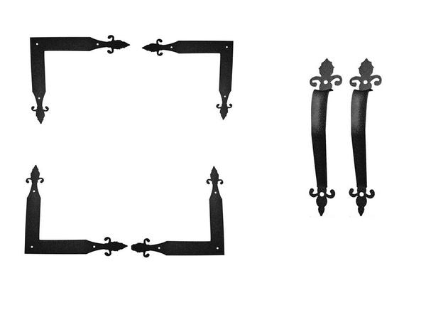 Orleans Series Corner Angle Hinge & Pull Handle Hardware Set