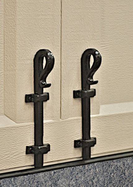 "Rustic Series 10"" Decorative Aluminum Ranch Cane Bolt assembly"