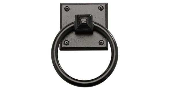 "Rustic Series 4-1/2"" Aluminum Square Mission Ring Pull"