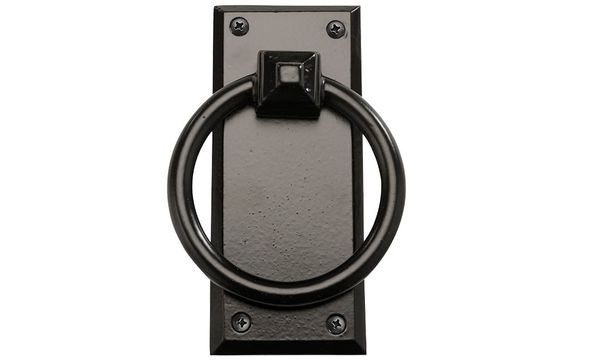 "Rustic Series 7"" Mission Ring Pull Aluminum Garage Door Knocker"