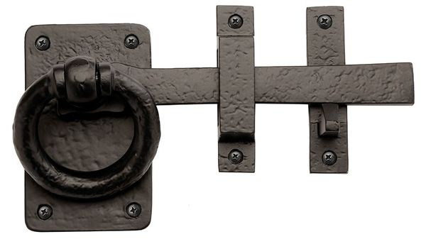 "Rustic Series 8"" Aluminum Traditional Style Door Latch Dummy Set"