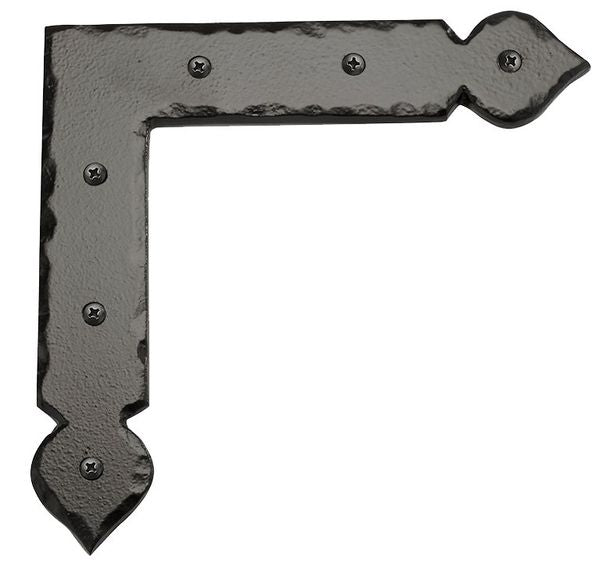 "Rustic Series 9"" Solid Aluminum Decorative L Shaped Strap Hinges"