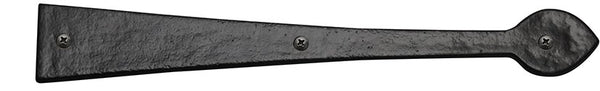 "Rustic Series 16"" Aluminum Spear End Strap Hinge"