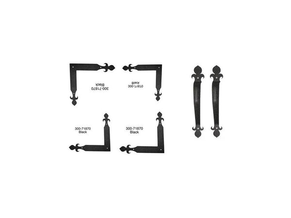St. James Series Corner Strap Hinges & Pull Hardware Set