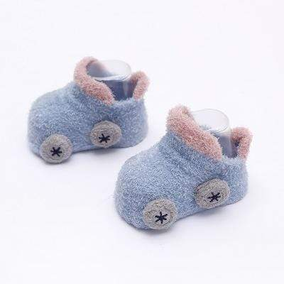 mysite shoes blue 17''-22'' Reborn Baby Car Warm Non-slip Toddler Socks