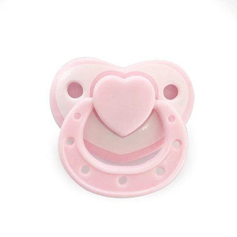 Realisticreborndoll Pink Pure color Love shape magnetic pacifier
