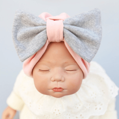 Reborn Dolls - So Real Reborn Baby Dolls For Adoption - So Real Doll 18-24 Inch Kits' Cotton Bow New Hair Band H3
