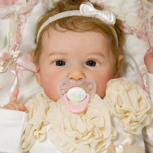 reborndollsshop 22'' Cloth Body Reborn Dolls 22'' Cute Corinne Reborn Baby Doll Girl - Realistic and Lifelike Baby