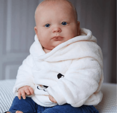 reborndollsshop 22'' Cloth Body Reborn Dolls Cloth Body 19'' Brady Awake Realistic Reborn Baby Boy