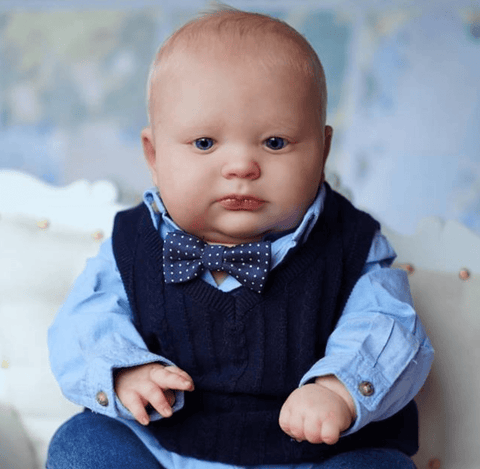 reborndollsshop 22'' Cloth Body Reborn Dolls Cloth Body 19inch Dean Awake Realistic Reborn Baby Boy