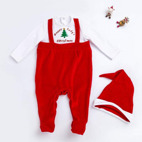 reborndollsshop baby clothing Cute Doll Xmas Clothing Suit for 17-22 inch Reborn Baby Doll