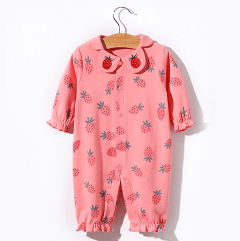 reborndollsshop baby clothing Pink strawberry jumpsuit suitable for 22'' rebirth dolls