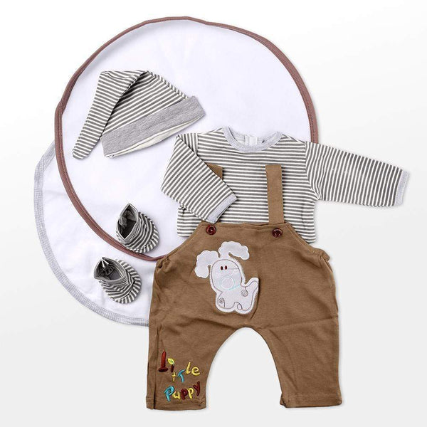 "reborndollsshop baby clothing Reborn Dolls Baby Clothes Brown Outfits for 20""- 22"" Reborn Doll Girl Baby Clothing sets"