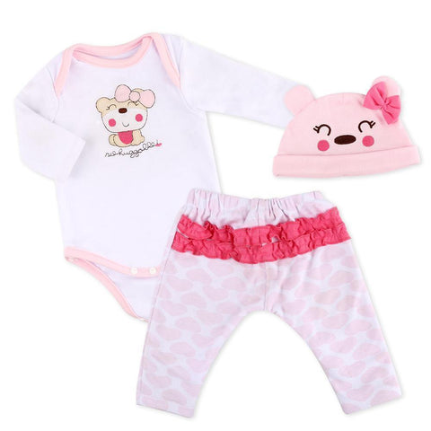 "reborndollsshop baby clothing Reborn Dolls Baby Clothes Pink Outfits for 20""- 22"" Reborn Doll Girl Baby Clothing sets"