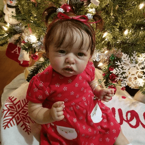 reborndollsshop bestseller Realistic 22'' Marina Reborn Baby Doll - Give for Baby Christmas Gifts