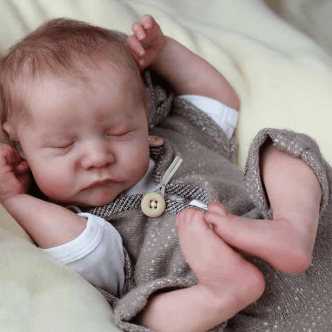 reborndollsshop Hot Sale 17 inch Real Lifelike Boyd Reborn Baby Doll Girl, Lifelike Newborn Baby Dolls with Clothes