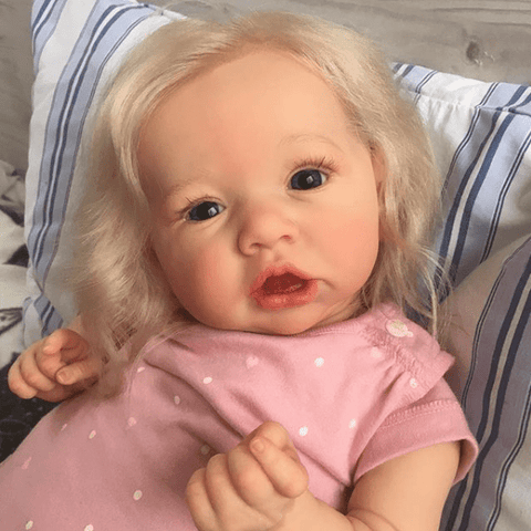 reborndollsshop new arrival2 22'' Sweet Clementine Reborn Baby Doll Girl Realistic Toys Gift Lover