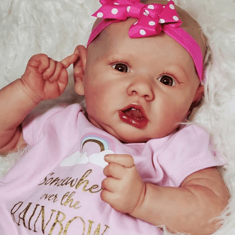reborndollsshop new arrival2 22'' Sweet Kenna Reborn Baby Doll Girl Realistic Toys Gift Lover