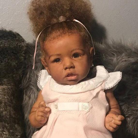 reborndollsshop NEW ARRIVALS Realistic 22'' Dayana Reborn Baby Doll With Black, Hand-rooted Hair