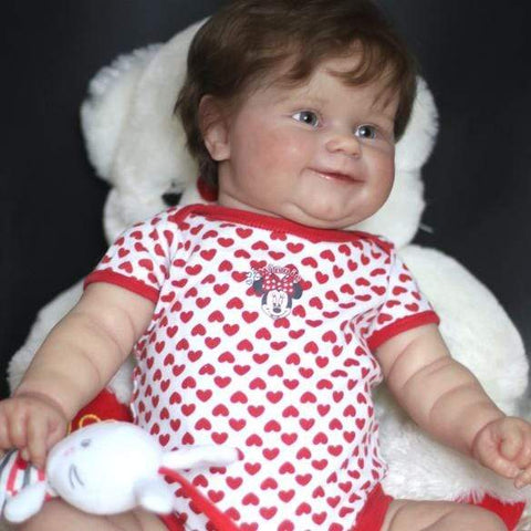 reborndollsshop Series Maddie 22'' Little  Xanthe Cute Reborn Baby Doll -Realistic And Cute