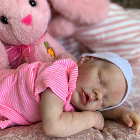 reborndollsshop TWIN A 17'' Realistic Cute Anne Reborn Baby Dolls-Great For Christmas Gift