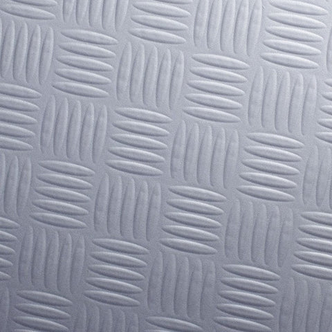 Cover Styl Z8 - Silver Chequer Plate Steel