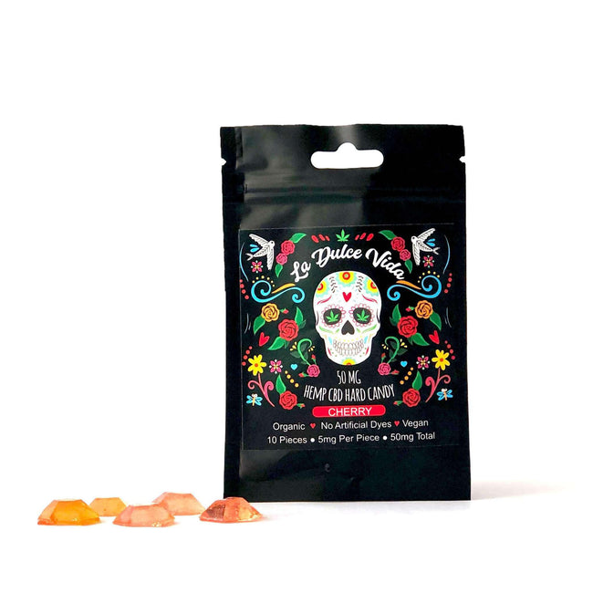 La Dulce Vida Hemp CBD Edibles for Sale | Cherry Hard Candy