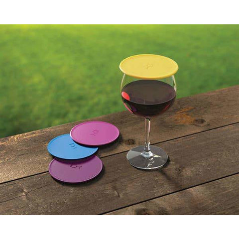 TAP & SEAL SOLID WINE GLASS COVER- Box Set of 4 covers