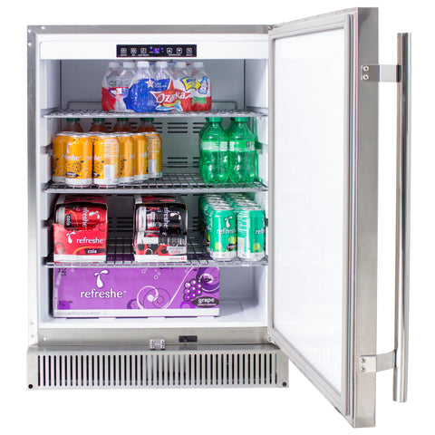 "Blaze Outdoor Rated Stainless 24"" Refrigerator 5.2 CU"