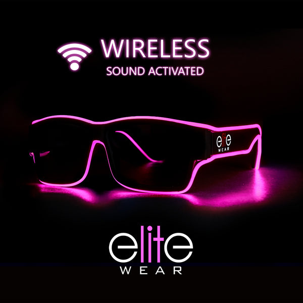 Light Up Glasses Wireless - Pink Wayfarer