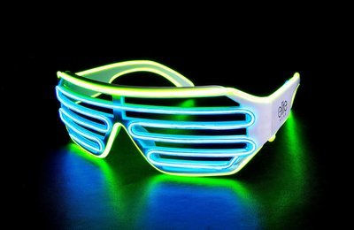Shutter Shades Wired Light Up Glasses - Lime | Blue