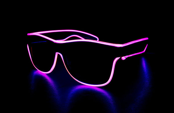 Light Up Glasses Wired - Pink Wayfarer