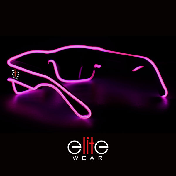 Wireless Light Up Glasses - Pink Wayfarer