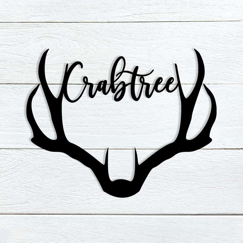 Deer Antler Name Sign