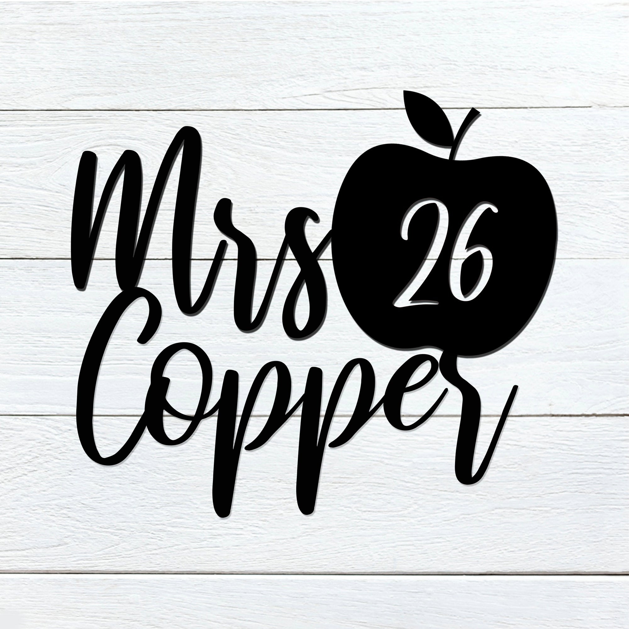 Teacher Apple Name Sign