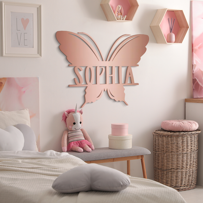 Butterfly Name Sign
