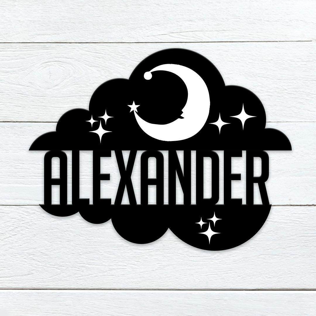 Dreamy Cloud Name Sign