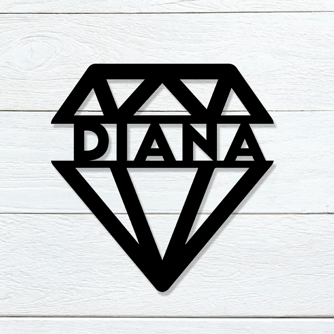 Diamond Name Sign
