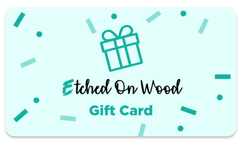 Etched On Wood Gift Card